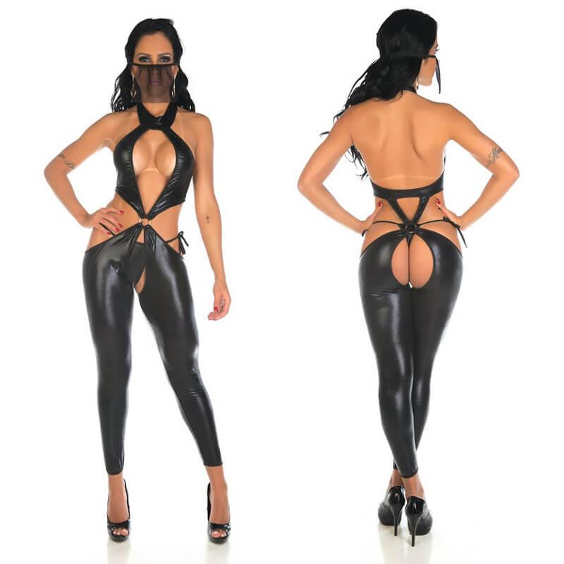 fantasia body sensual bandida sexshop